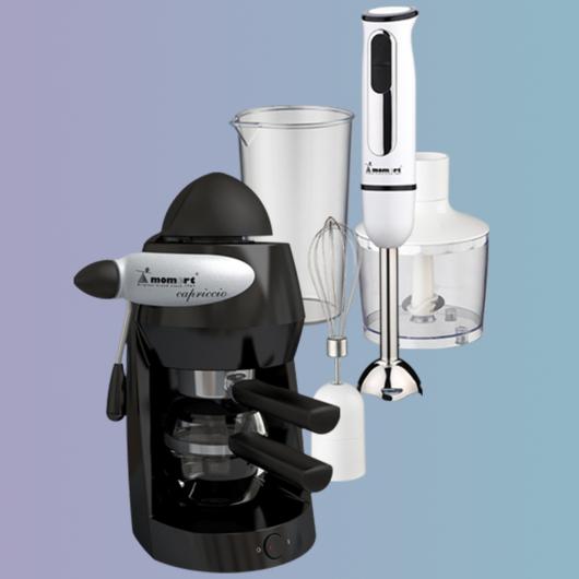 Kávéfőző-Botmixer szett Csomag
