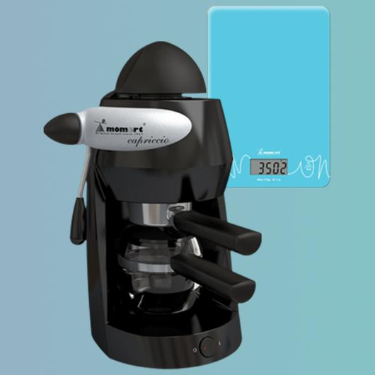 Kávéfőző-Konyhamérleg Csomag