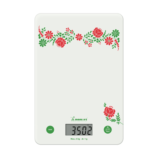 Momert 6859 digitális üveglapos konyhamérleg